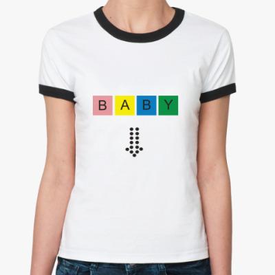 Женская футболка Ringer-T Baby