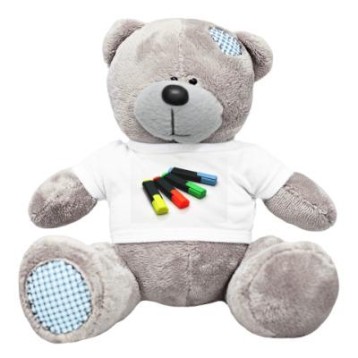 Плюшевый мишка Тедди Мишка с цветными маркерами