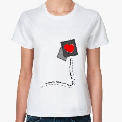 Классическая футболка Patch love