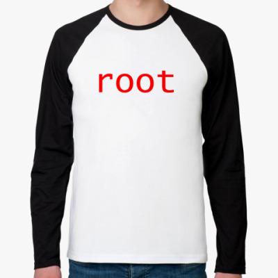 Футболка реглан с длинным рукавом root