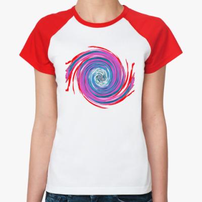 Женская футболка реглан Circulation