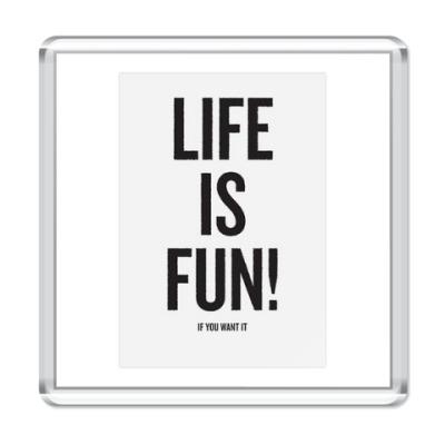 Магнит Life is fun !(магнит)