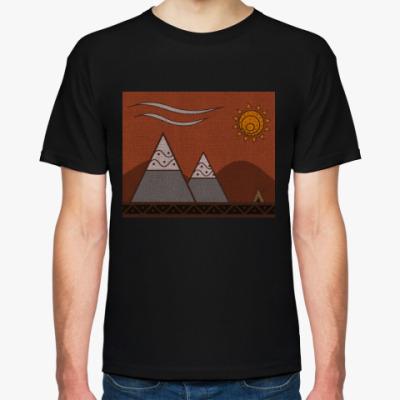Футболка 'Calm mountains'