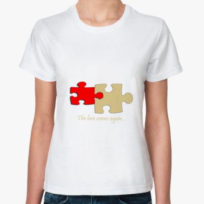Классическая футболка любовь/
