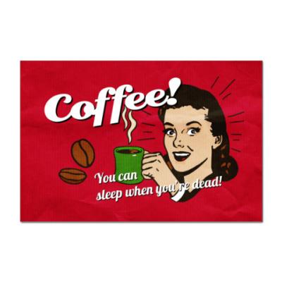 Наклейка (стикер)  Coffee