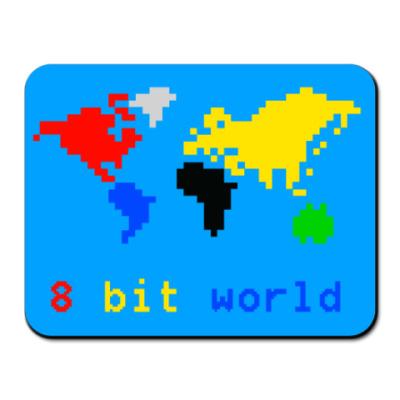 Коврик для мыши коврик 8 bit world голубой