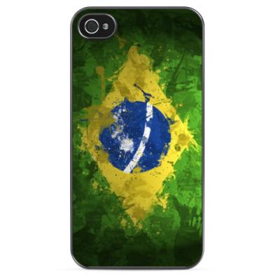 Чехол для iPhone Флаг Бразилии