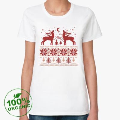 Женская футболка из органик-хлопка Норвежский лес
