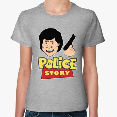 Женская футболка Police story