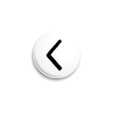"""Значок 25мм  Руна """"Kano"""""""