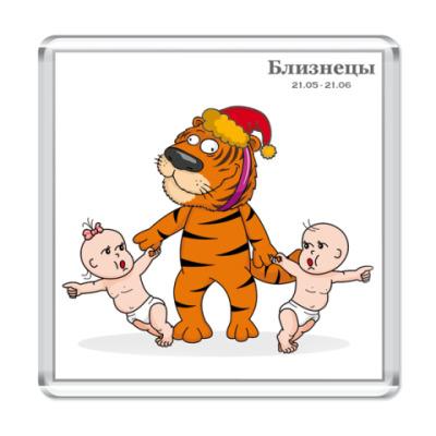 Магнит Новогодний тигр и Близнецы