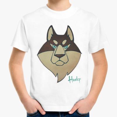 Детская футболка Хаски