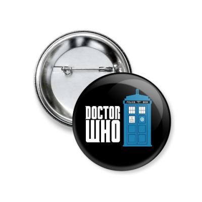 Значок 37мм Doctor Who