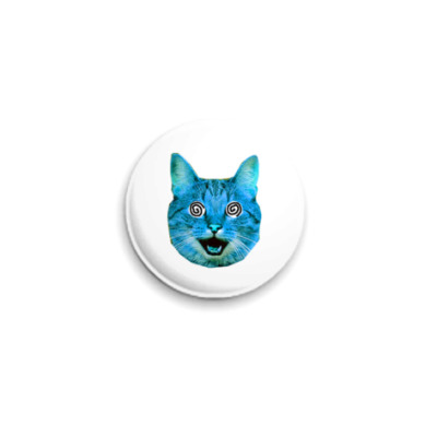 Значок 25мм  «Blue cat» (25 мм)