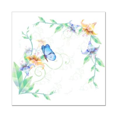 Наклейка (стикер)  Flower Frame