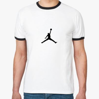 Футболка Ringer-T Баскетболист