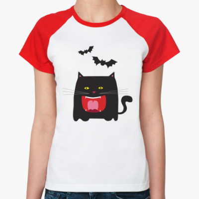 Женская футболка реглан Котя