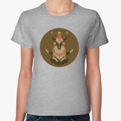 Женская футболка Animal Zen: Y is for Tibet Yak