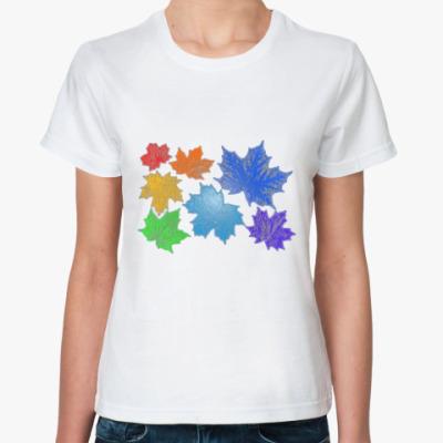 Классическая футболка Радужный листопад