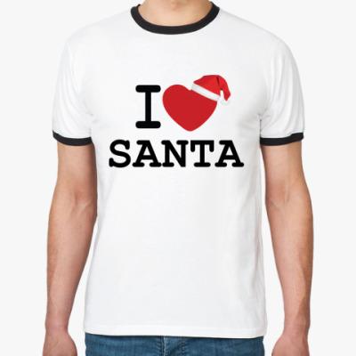 Футболка Ringer-T Новогодний принт I Love Santa