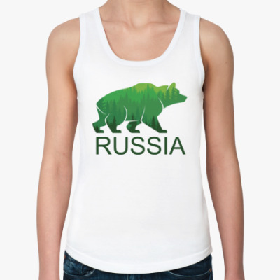 Женская майка Россия, Russia