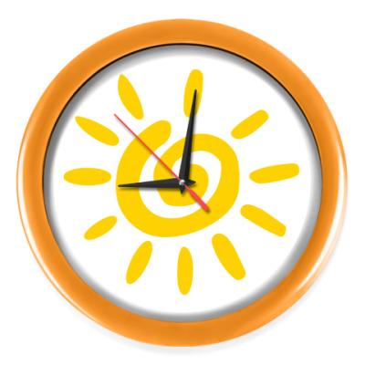 """Настенные часы Часы, оранжевые (без цифр) """"СОЛНЫШКО"""""""
