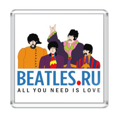 Магнит  Beatles.ru (квадрат)