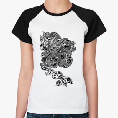 Женская футболка реглан Абстрактная магия