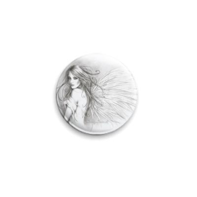 Значок 25мм Карандашный ангел