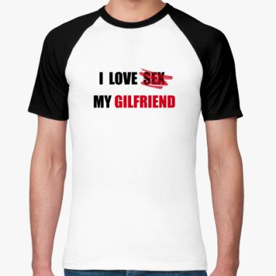 Футболка реглан I Love Sex