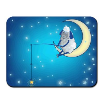 Коврик для мыши Барашек на луне