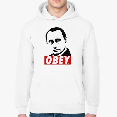 Толстовка худи Путин (Стиль Obey)