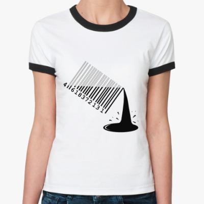 Женская футболка Ringer-T мировая финансовая ТЫ
