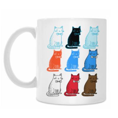 Кружка Разноцветные коты
