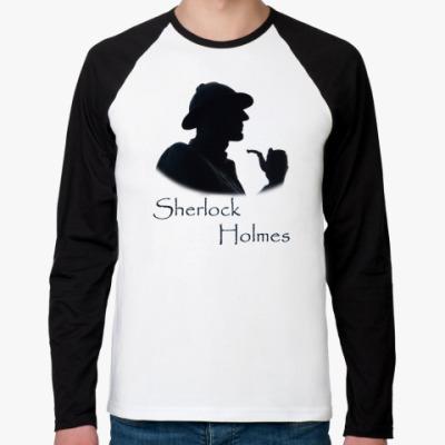 Футболка реглан с длинным рукавом `Шерлок Холмс`Мужск.футболка