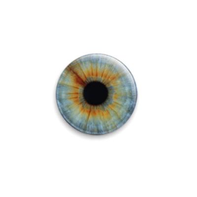 Значок 25мм eye-09  25 мм