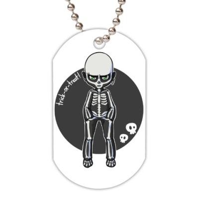 Жетон dog-tag Скелет