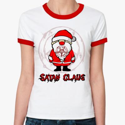 Женская футболка Ringer-T Satan Claus