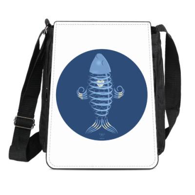 Сумка-планшет Animal Zen: X is for X-ray tetra
