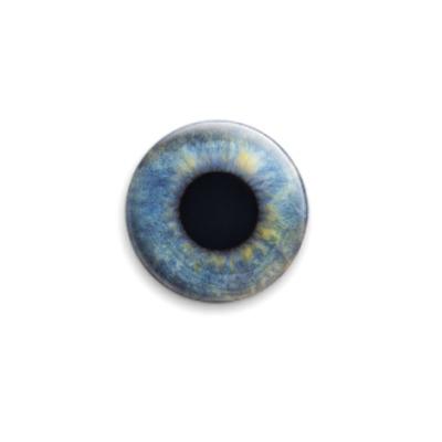 Значок 25мм eye-07  25 мм