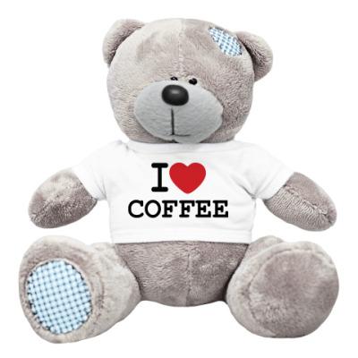 Плюшевый мишка Тедди I Love Coffee