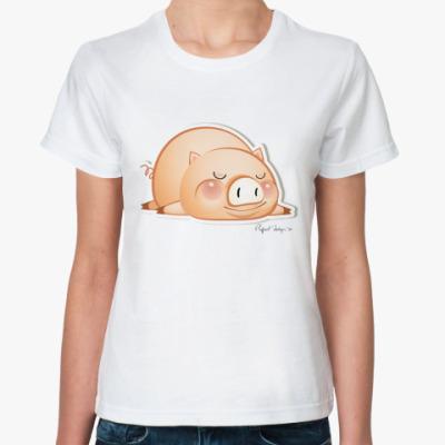 Классическая футболка Пигги