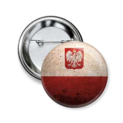 Значок 50мм Польша
