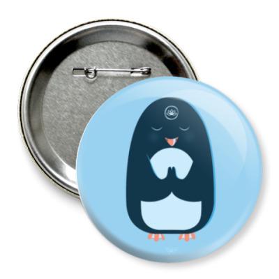 Значок 75мм Animal Zen: P is for Penguin