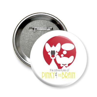 Значок 58мм Приключения Пинки и Брэйна