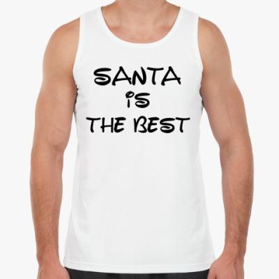Майка Надпись Santa is the best