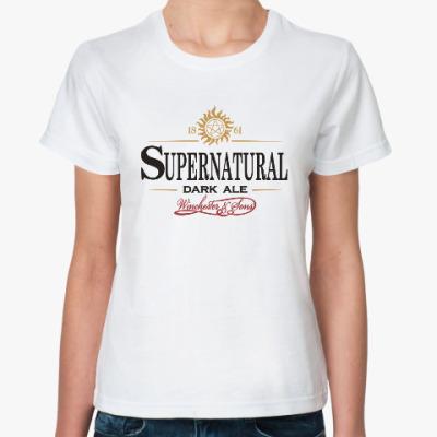 Классическая футболка Supernatural - Темный эль