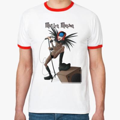 Футболка Ringer-T Marilyn Manson