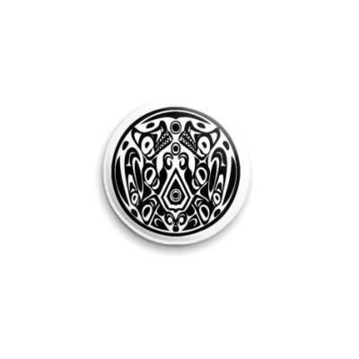 Значок 25мм  25 мм Quileute Crest