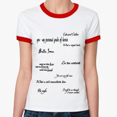 Женская футболка Ringer-T двухсторонняя